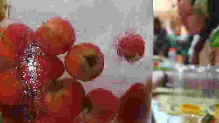 Água aromatizada servida na festa Spirit Dancing - Caroline Apple/UOL - Caroline Apple/UOL
