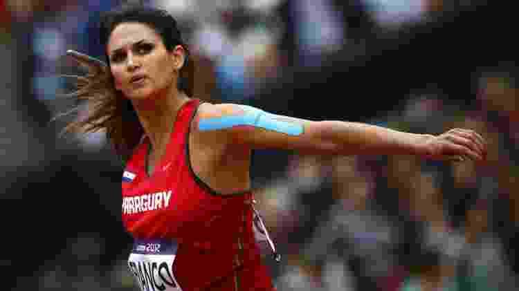 A atleta Leryn Franco, do Paraguai, nas classificatórias das Olimpíadas de Londres, em 2012 - Kai Pfaffenbach/Reuters - Kai Pfaffenbach/Reuters