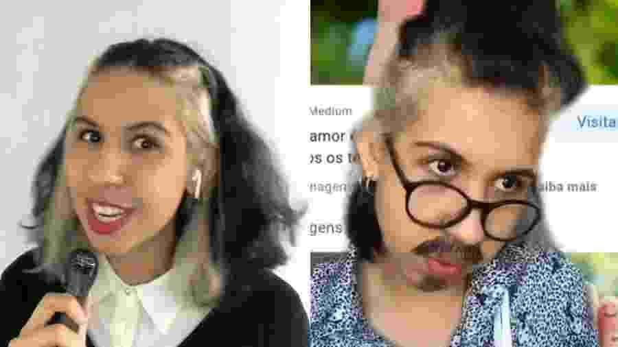 Do esquermacho à jornalista sudestina. Os vários personagens de Ademara Barros, jornalista e atriz pernambucana que faz sucesso do TikTok - Reprodução