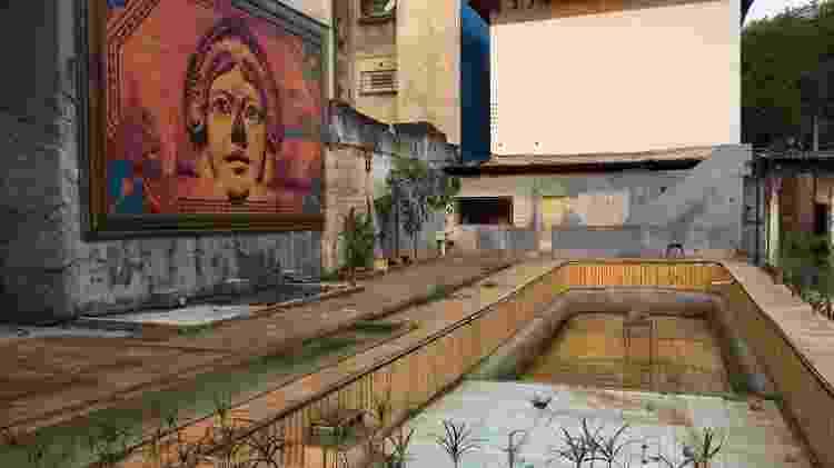 A piscina da Vila Itororó, onde acontecem apresentações musicais - Mateus Araújo/UOL - Mateus Araújo/UOL