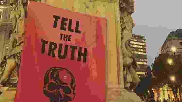 Protesto do Extinction Rebellion, que travou o centro de Londres em 4 de outubro - Luiza Sahd/UOL