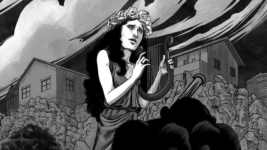 """Ilustração da nova edição de """"Rainha do Ignoto"""" - Editora Fora do Ar/ Divulgação"""