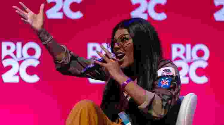 Ludmilla fala sobre a cena do funk durante palestra sobre mercado musical na Rio2C - Cacalos Garrastazu/Eder Content 2019