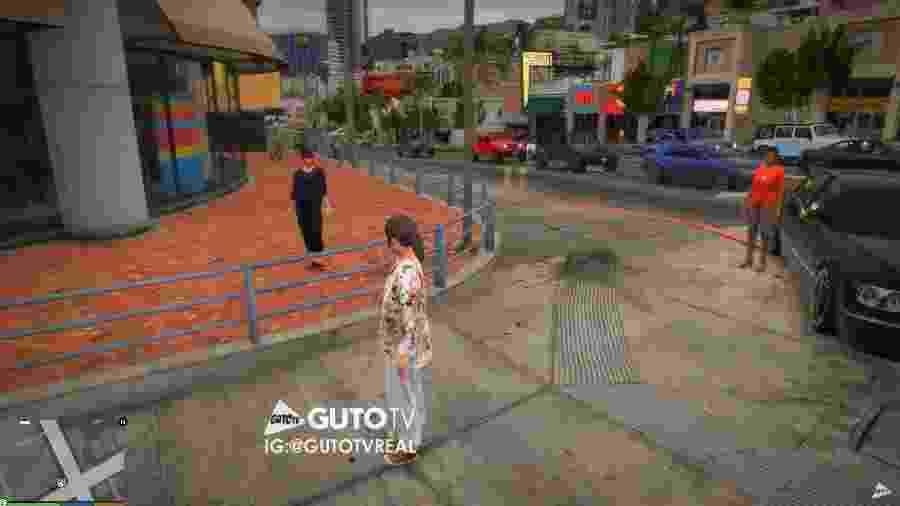 """Novela """"Amor de Mãe"""" recriada no GTA - Reprodução/Guto TV"""
