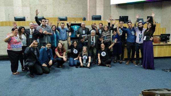 Academia Latino-Americana de Ufologia Científica faz palestra em plenário da Câmara Municipal de São Paulo  - Arquivo pessoal/ Rose Castro