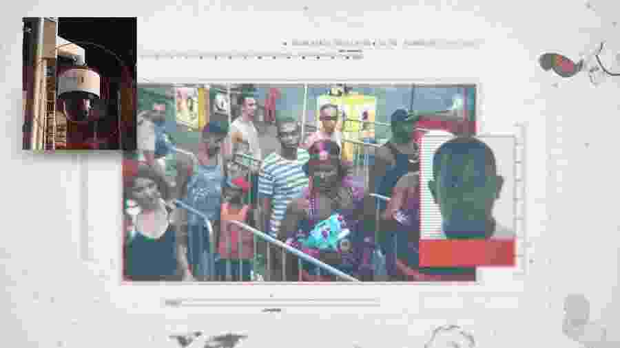 Marcos Vinícius de Jesus Neri foi flagrado por uma câmera chinesa da Huawei no Carnaval de Salvador e preso - Arte/TAB