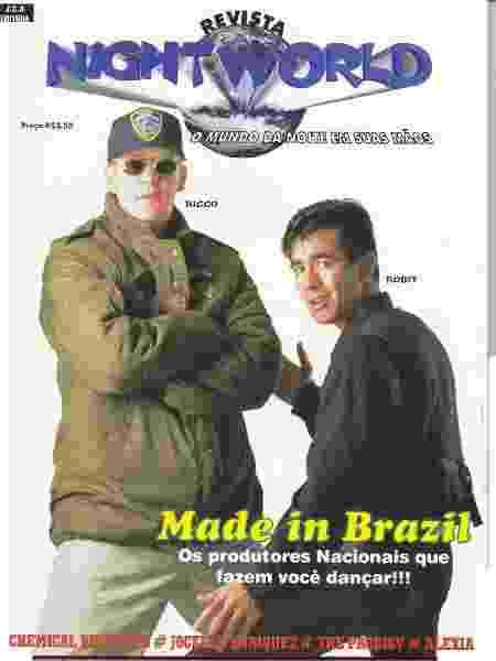 O produtor Ricco Robit na capa da revista Night World, publicação que noticia a cena - Reprodução/Arquivo pessoal Tibor Yuzo - Reprodução/Arquivo pessoal Tibor Yuzo