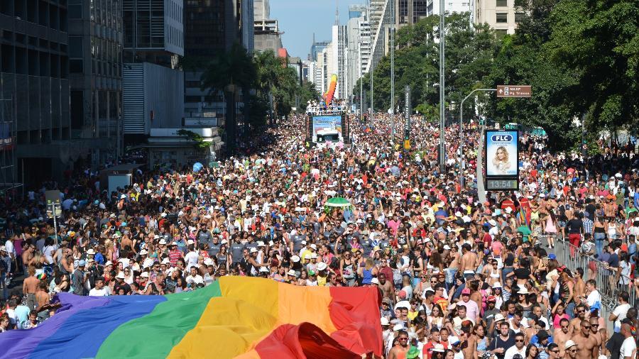 18ª Parada Gay de São Paulo, em 2014 - Ben Tavener/Brazil Photo Press