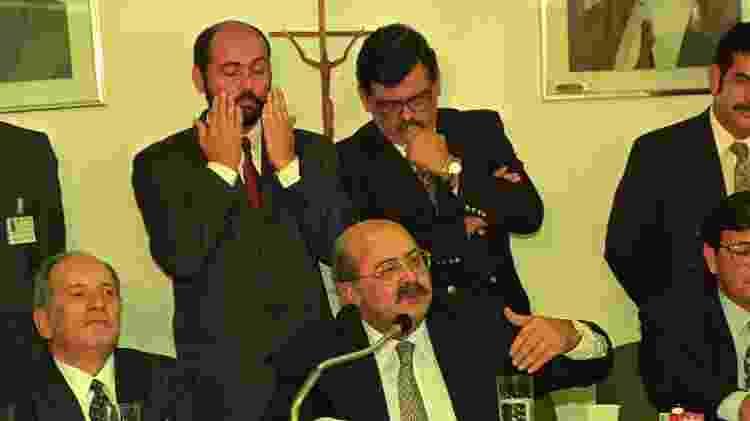 O ex-tesoureiro de Collor, PC Farias, depõe no início da CPI, em 9 de junho de 1992 - Lula Marques/Folhapress - Lula Marques/Folhapress