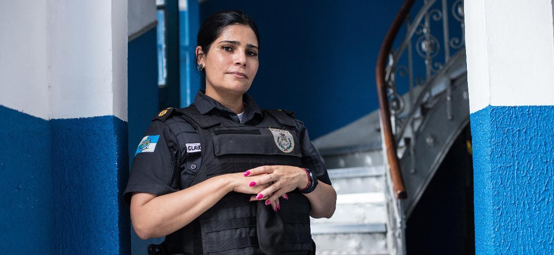Tenente-Coronel Cláudia Moraes, no Terceiro Batalhão de Polícia Militar - Isabel Lins/UOL