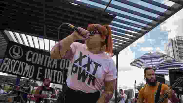Banda Mar Morto no ato Hardcore Contra o Fascismo - André Lucas/UOL - André Lucas/UOL