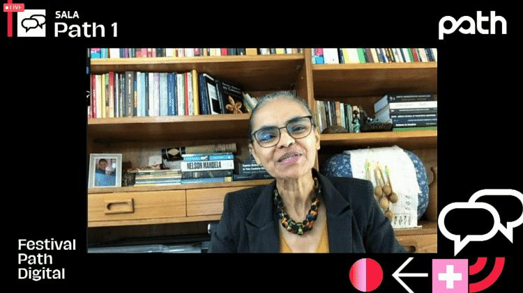 Marina Silva na palestra 'A crise civilizatória e os desafios do desenvolvimento sustentável' - Festival Path/Reprodução - Festival Path/Reprodução