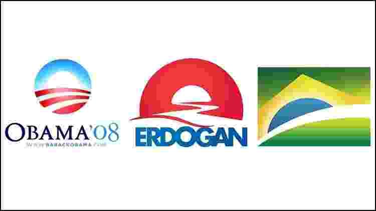 Um novo tempo: A ideia do sol nascendo se tornou um ícone da campanha de Barack Obama, foi replicado na campanha do presidente turco Recep Tayyip Erdogan e é a mensagem principal na identidade do governo Bolsonaro  - Divulgação