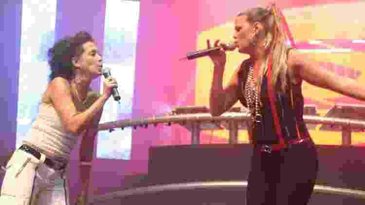 As cantoras Klauss e Dalimas cantam na edição de 2005 do Planet Pop Festival - Divulgação / Arquivo pessoal de Tibor Yuzo - Divulgação / Arquivo pessoal de Tibor Yuzo