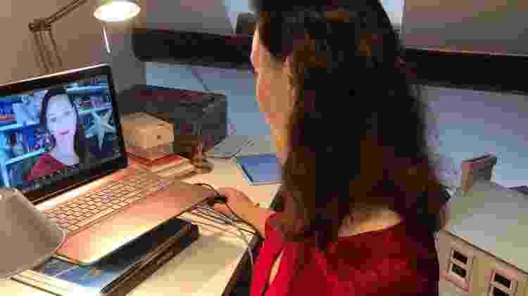 Blazka Müller trabalhando em sua casa durante o lockdown - Arquivo pessoal - Arquivo pessoal