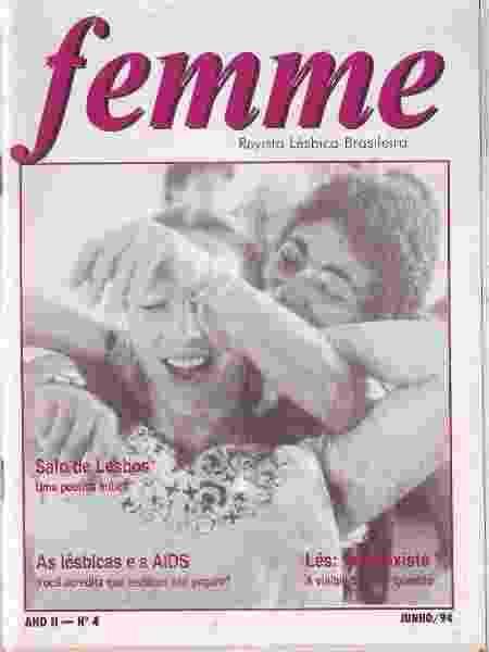 Femme, revista lésbica que circulou no Brasil entre 1993 e 1996, no acervo do Arquivo Lésbico Brasileiro - Arquivo pessoal - Arquivo pessoal