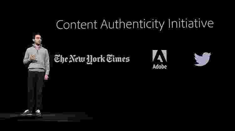 Scott Belsky, CPO da Adobe, anuncia a Iniciativa da Autenticidade de Conteúdo no Adobe MAX em Los Angeles - Reprodução