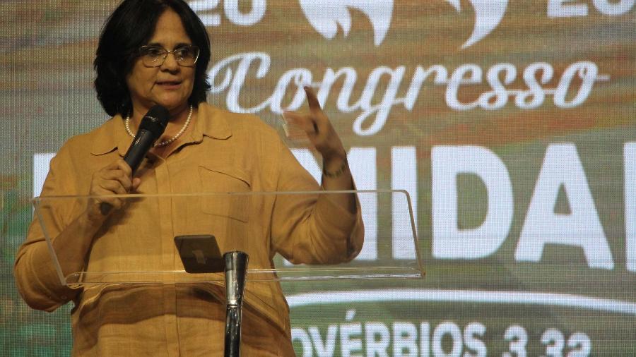 A ministra Damares Alves - Daniel Stone/Futura Press/Folhapress