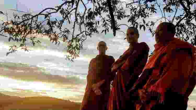 Os monges do mosteiro budista Suddhavãri, em São Lourenço (MG) - Arquivo Pessoal