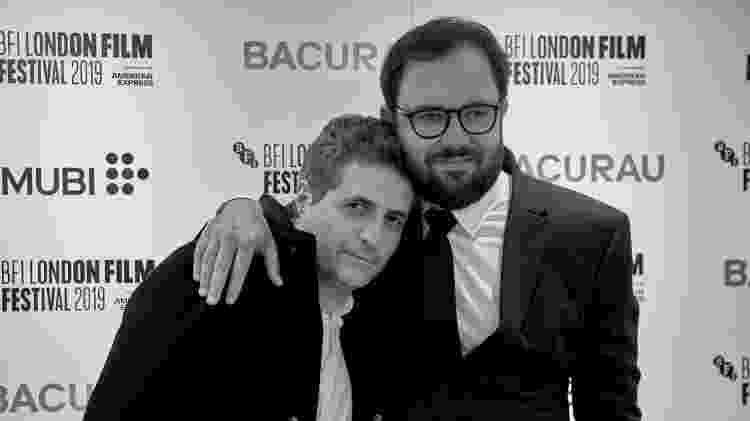 """Kléber Mendonça Filho e Juliano Dornelles, na estreia de """"Bacurau"""" em Londres - Mubi/Divulgação"""