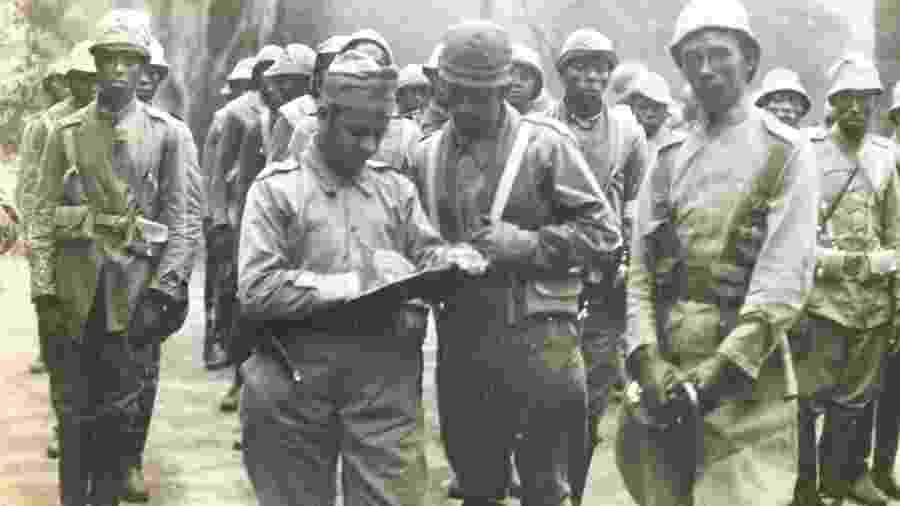 A Legião Negra, que atuou durante a Revolução Constitucionalista de 1932 - Ricardo Della Rosa/Acervo pessoal