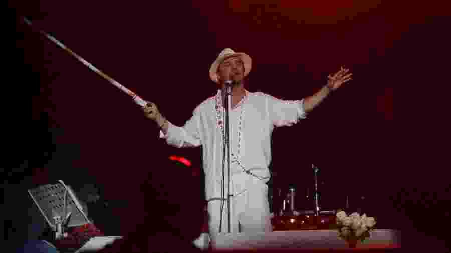 Mike Patton, durante show do Faith No More no SWU, em 2011 - Zanone Fraissat/Folhapress