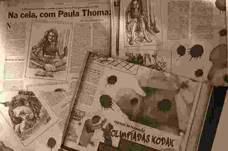 Recortes de jornal guardados por Paula Máiran - Paulo Sampaio/UOL - Paulo Sampaio/UOL