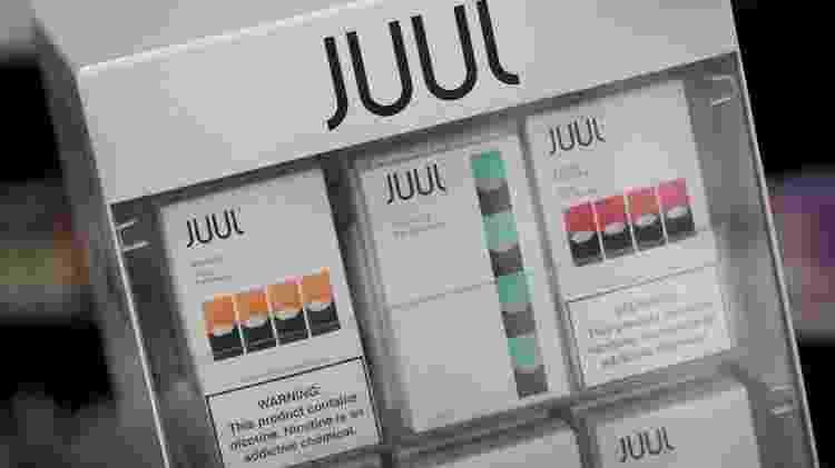 Loja oferece em Chicago as recargas com sabores da Juul, a empresa que domina o mercado dos EUA - AFP