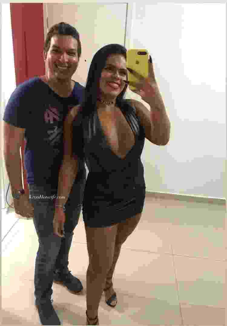 Krissia e Fagner, casal que participou da Semana Liberal promovida pelo Sexlog - Arquivo pessoal - Arquivo pessoal