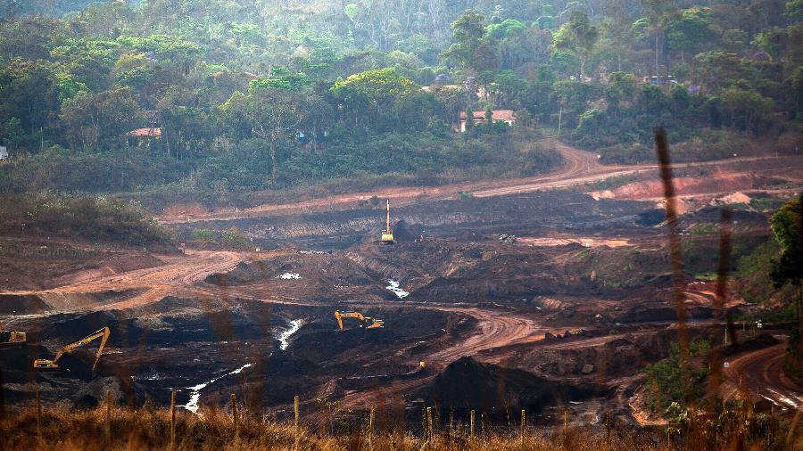 Local onde a barragem de rejeitos da Mina Córrego do Feijão se rompeu, em Brumadinho, em 2019 - Gustavo Baxter/UOL