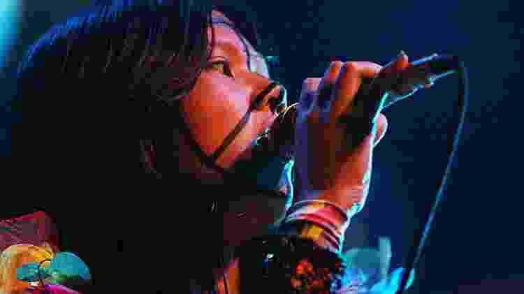 A vocalista Lovefoxxx, do Cansei de Ser Sexy, em 2007 - Sidinei Lopes/Folha Imagem
