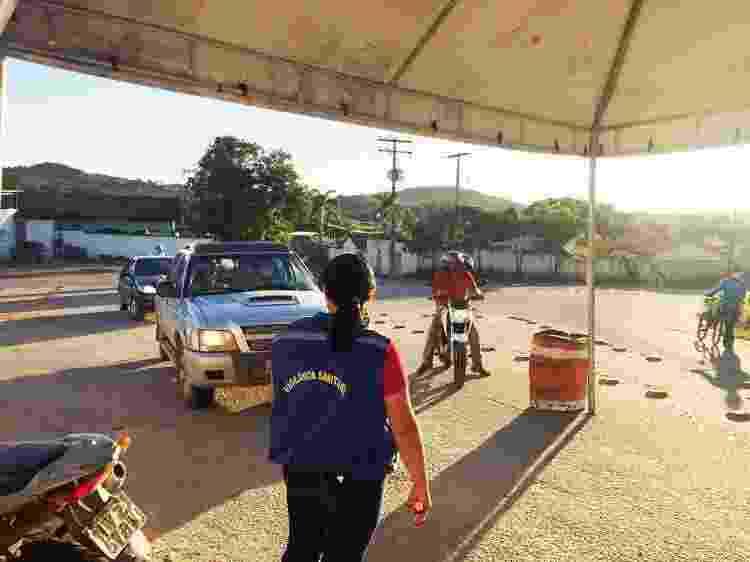 Barreira sanitária na cidade de Goiás (GO) - Ascom Prefeitura de Goiás/Divulgação - Ascom Prefeitura de Goiás/Divulgação