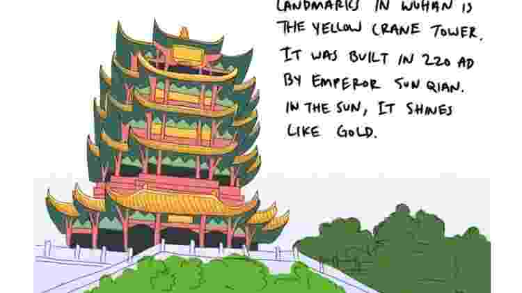 Ilustração de Wuhan, por Laura Geo - Laura Gao - Laura Gao