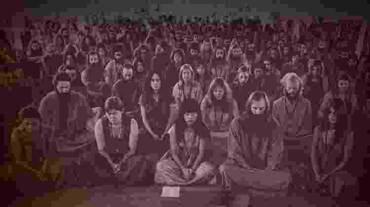 Seguidores do guru Osho, retratado na série documental Wild Wild Country - Reprodução