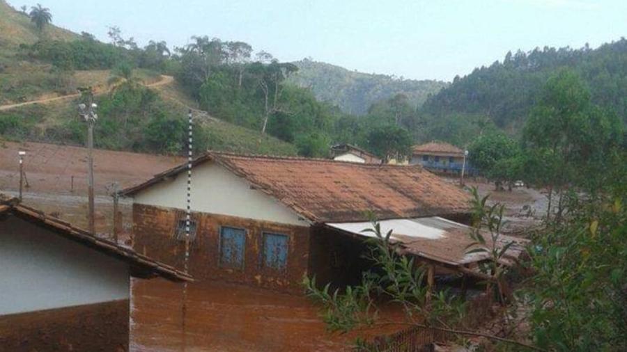 Ponte do Gama, onde Mirella Lino morava antes do rompimento da barragem - Arquivo pessoal