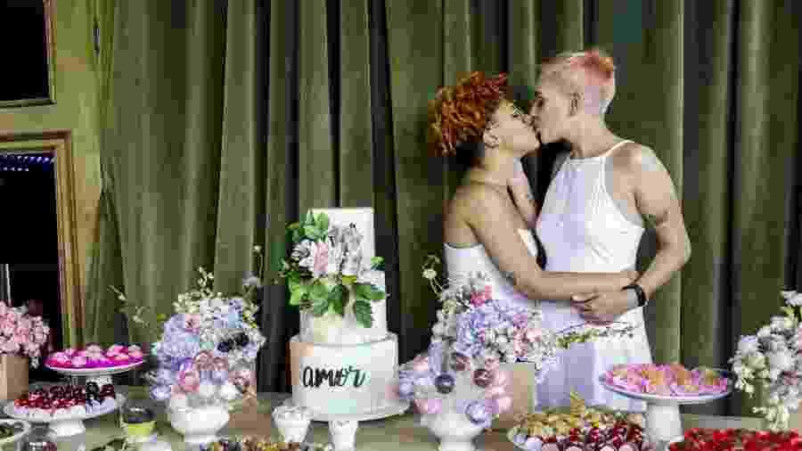 Quarenta casais homoafetivos participam do casamento coletivo organizado pela ONG Casa 1, em São Paulo - Mariana Pekin/UOL
