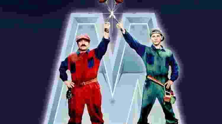 """Filme """"Super Mario Bros"""" (1993), com Bob Hoskins e John Leguizamo - Reprodução"""