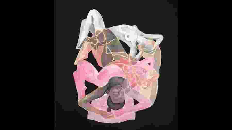 Aquarela da artista franco-dinamarquesa Tina Maria Elena Bak - Reprodução/Facebook/tinamariaelena