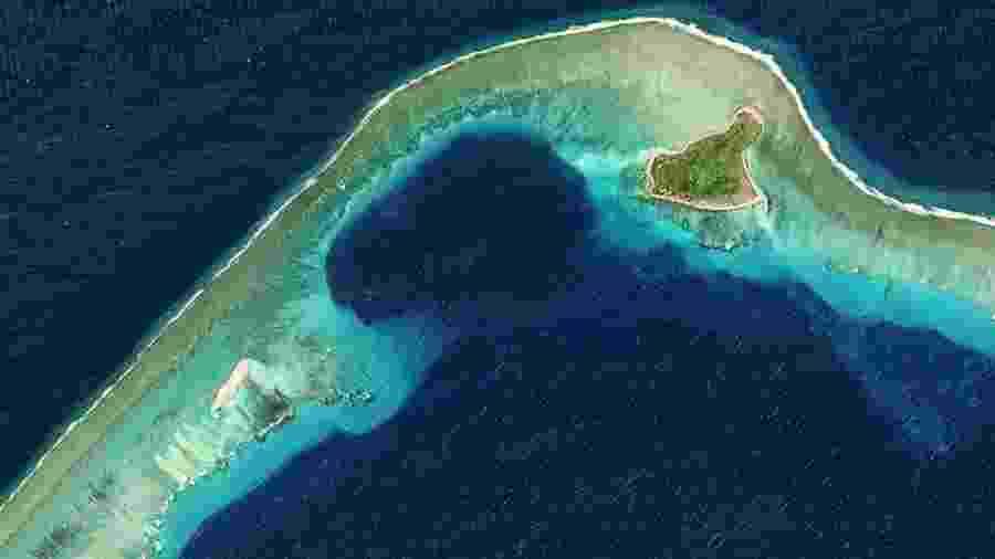 Atol de Bikini nas Ilhas Marshall - Copernicus Sentinel Data 2017/Orbital Horizon/Gallo Images/Getty Images