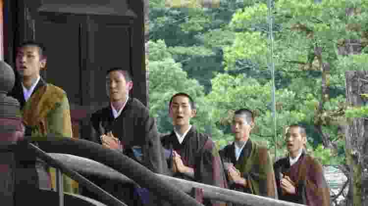 Preparação de Kodo Nishimura em templo budista, em 2014 - Arquivo Pessoal