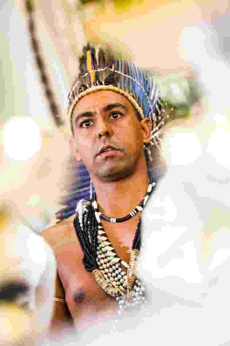 O cacique Marcos, líder dos Xukuru e filho do cacique Chicão, que foi assassinado em 1998 - Acervo Alespe