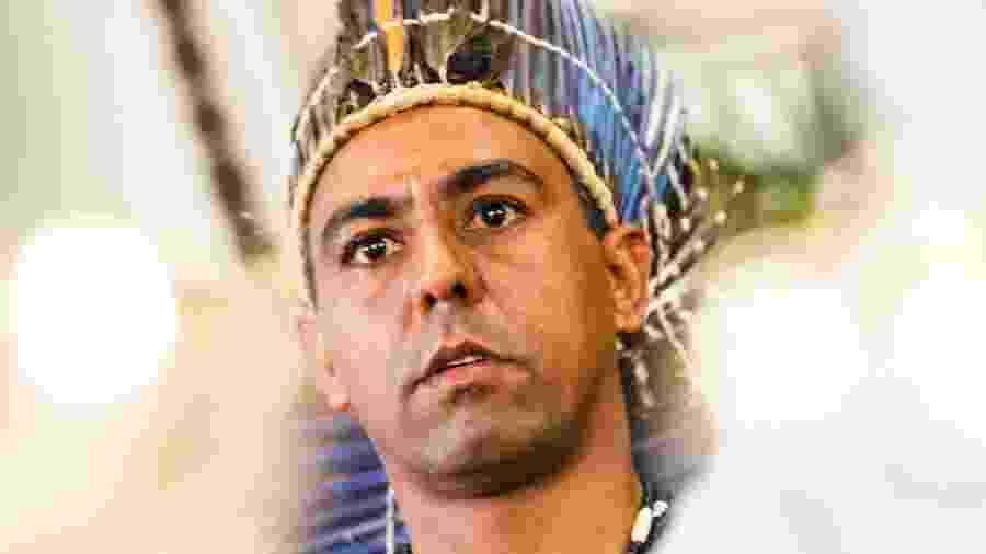 O cacique Marcos, líder dos Xukuru e filho do cacique Xicão, que foi assassinado em 1998 - Acervo Alespe