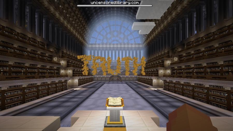 Biblioteca sem censura do Minecraft - Reprodução/ Minecraft