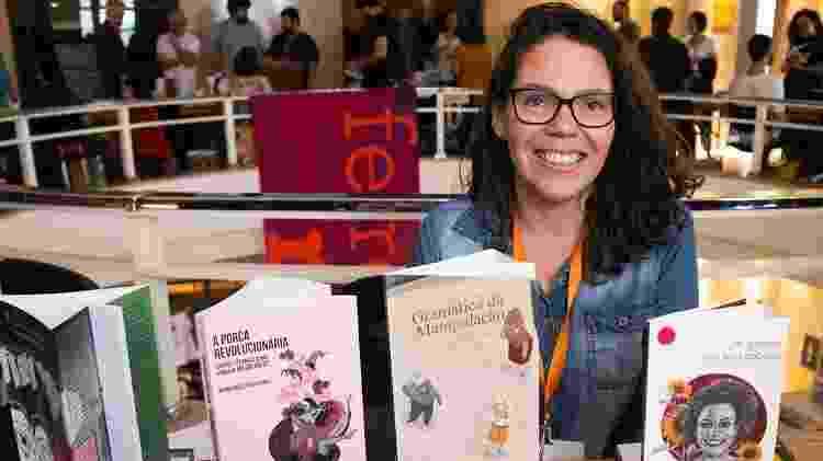 Carol Magalhães fundou a editora Quintal Edições que abre muito espaço para mulheres e temas femininos - Arquivo pessoal