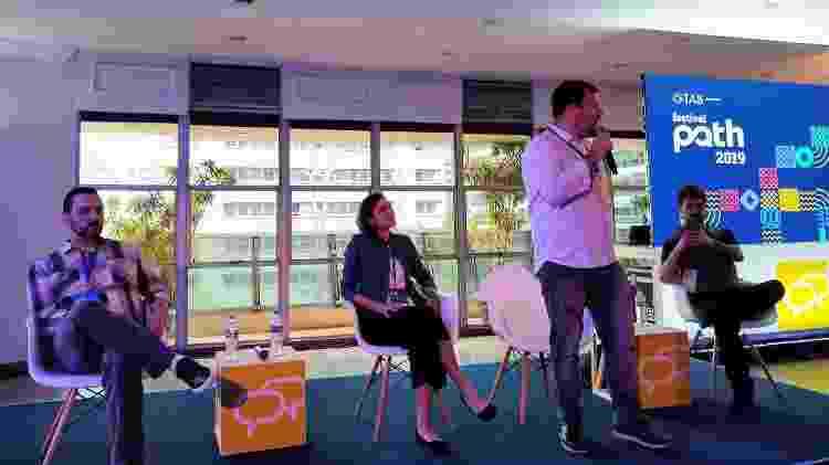 Palestra sobre empreendedorismo canábico no Brasil durante o Festival Path 2019 - Letícia Naísa/UOL