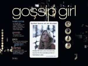 Página do blog da Gossip Girl - Reprodução/Netflix - Reprodução/Netflix