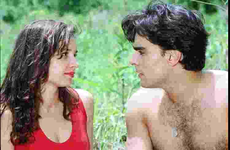 A atriz Daniella Perez e o ator Guilherme de Pádua, em cena da novela 'De corpo e alma', da TV Globo (1992) - Reprodução - Reprodução