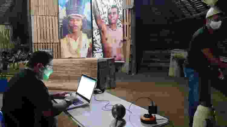 Bastidor das transmissões da Assembleia Xukuru - Ororubá Filmes
