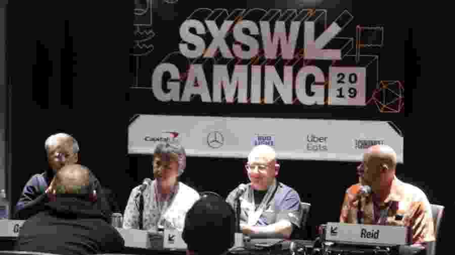 Veteranos da indústria dos games participam de painel no festival SXSW, que acontece todo ano no Texas - Jacqueline Lafloufa/UOL