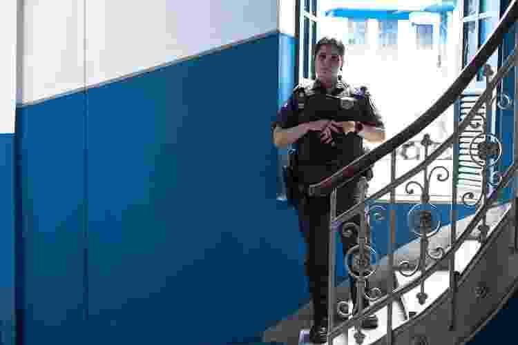 Tenente-Coronel Cláudia Moraes no Terceiro Batalhão de Polícia Militar, no Rio - Isabel Lins/UOL - Isabel Lins/UOL